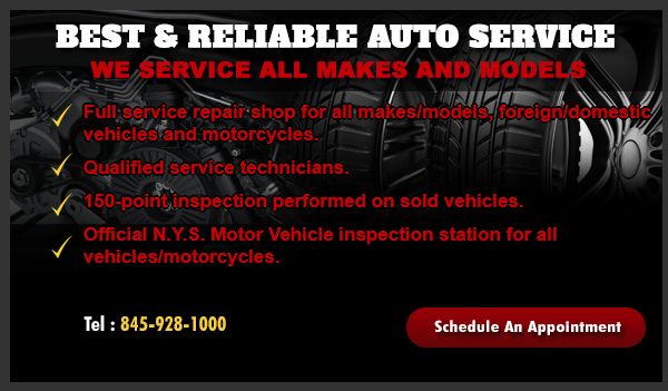 Official N.Y.S. Motor Vehicle inspection station for all vehicles /motorcycles.